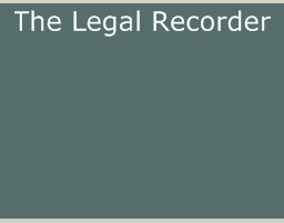The Legal Recorder